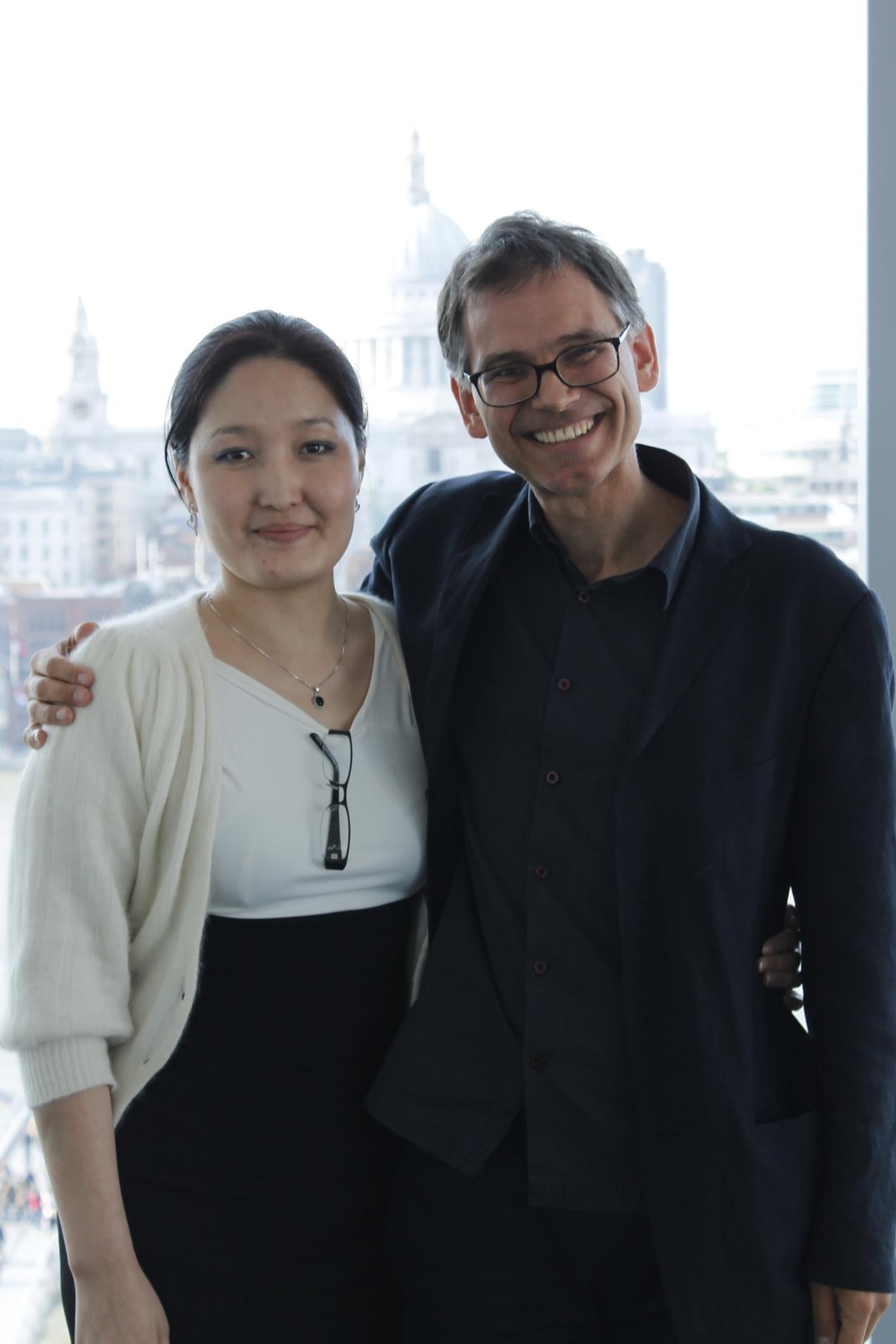 Tsendpurev Tsegmid with Marco Daniel @ Tate Modern conference