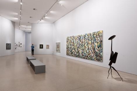 Installationsansicht JACKSON POLLOCK'S MURAL: Energy made visibleDeutsche Bank KunstHalle